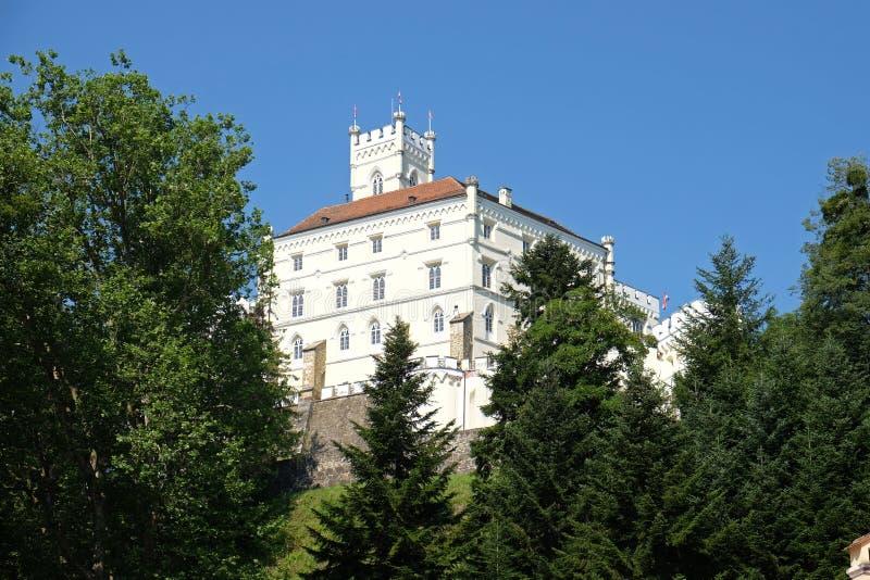 Castelo Trakoscan na Croácia fotografia de stock royalty free