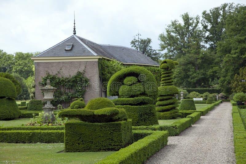 Castelo Twickel em Delden, uma propriedade belamente preservada da propriedade do país na camionete Twente de Hof imagens de stock royalty free