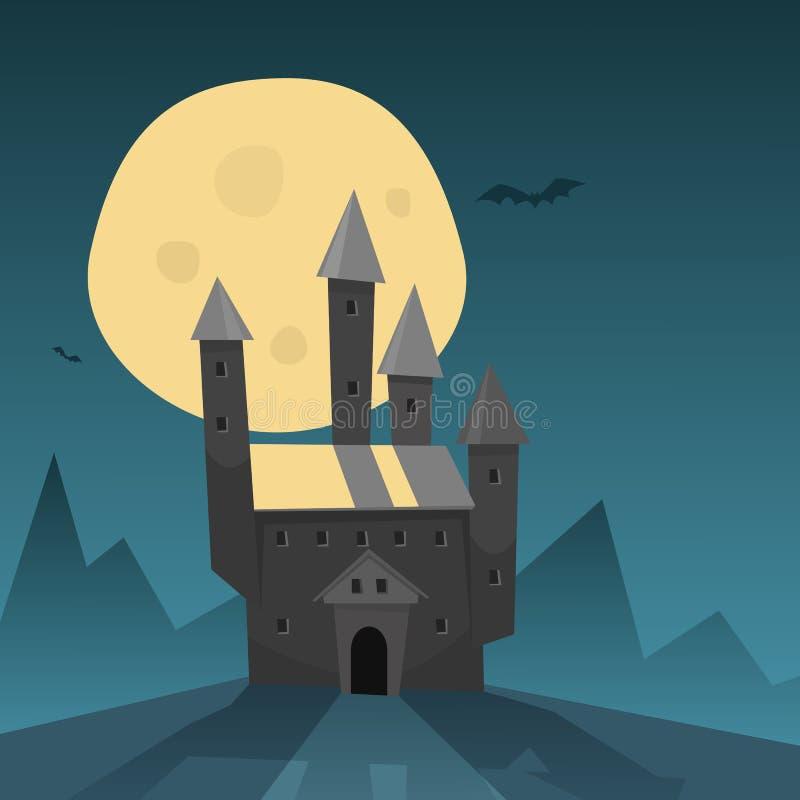 Castelo velho ilustração do vetor