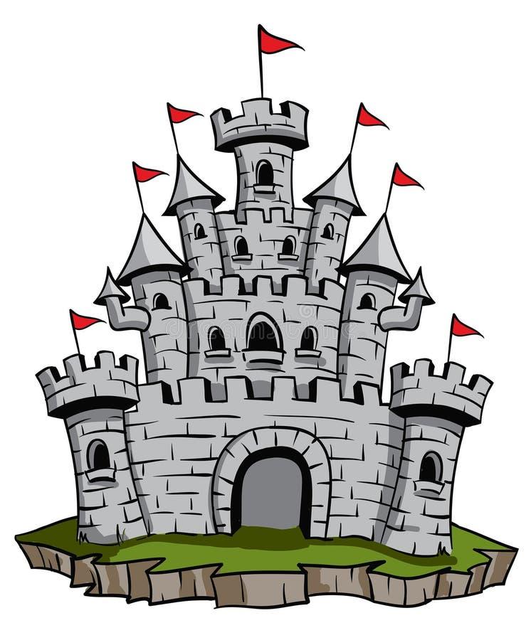 Castelo velho ilustração royalty free