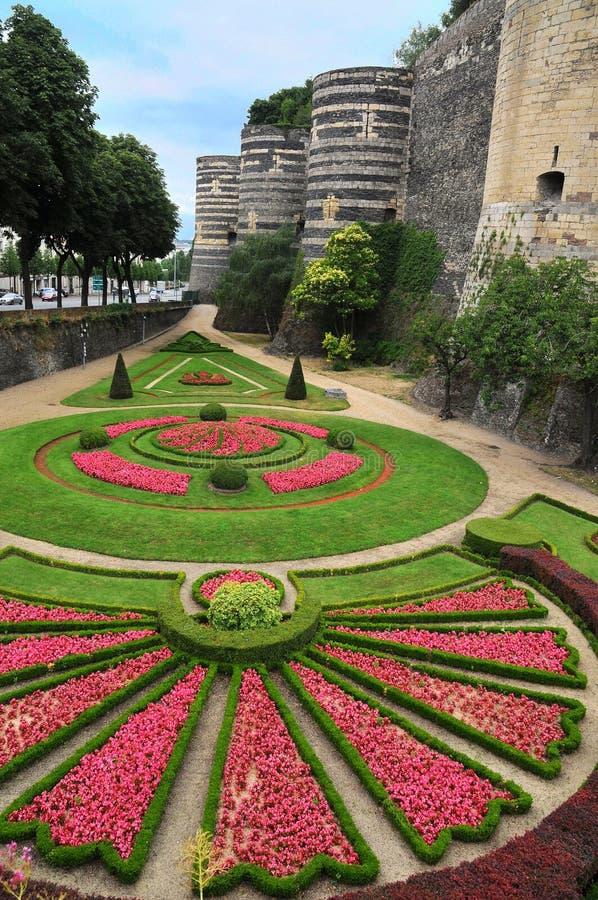 Castelo velho Angers em Loire Valley, france fotos de stock royalty free