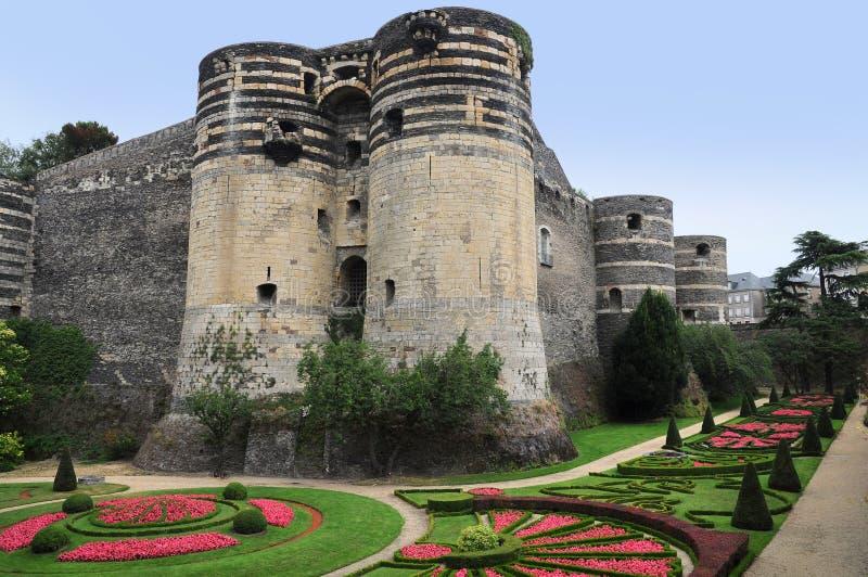Castelo velho Angers em Loire Valley, france imagem de stock