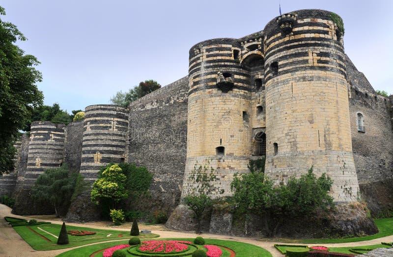 Castelo velho Angers em Loire Valley, france foto de stock royalty free