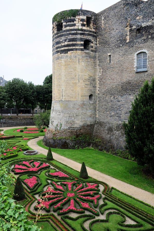 Castelo velho Angers em Loire Valley, france imagens de stock