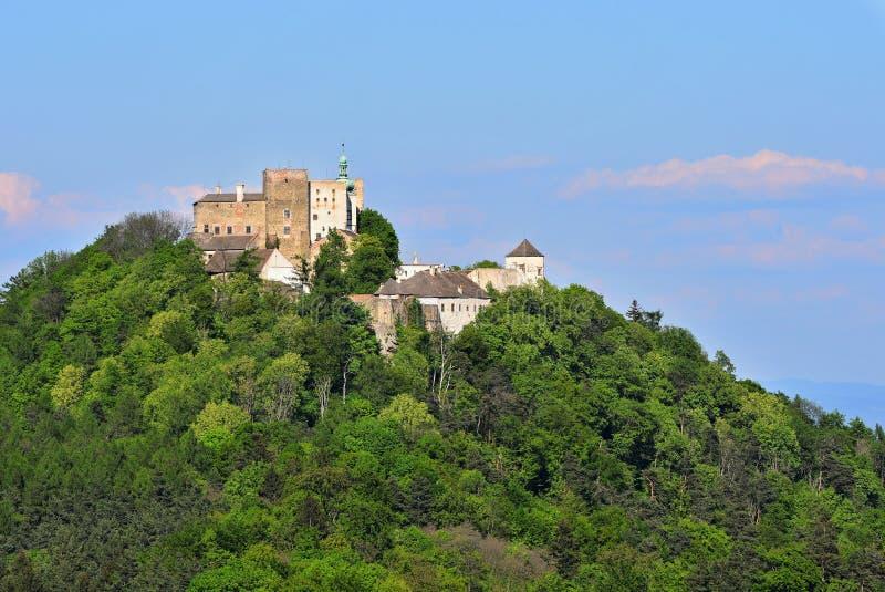 Castelo velho bonito Buchlov República-Europa Moravia-checa sul fotografia de stock royalty free