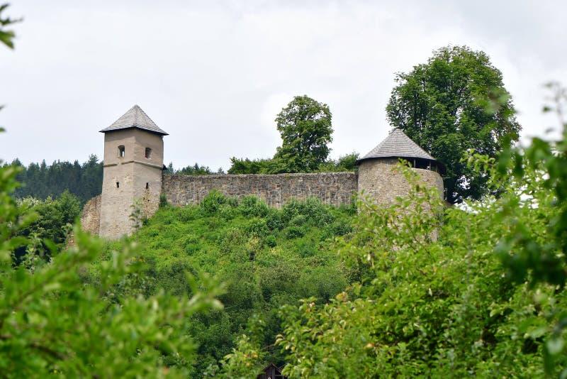 Castelo velho Brumov, república checa fotografia de stock