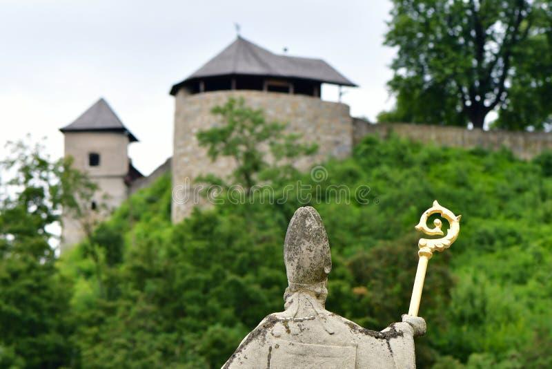 Castelo velho Brumov, república checa imagens de stock