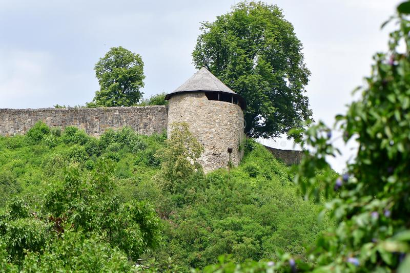 Castelo velho Brumov, república checa foto de stock