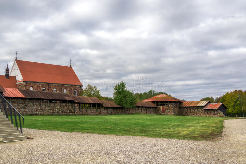 Castelo velho de Kaunas, Lituânia fotografia de stock