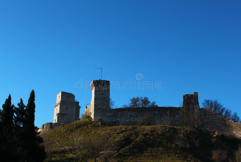 Castelo velho em Assisi imagens de stock