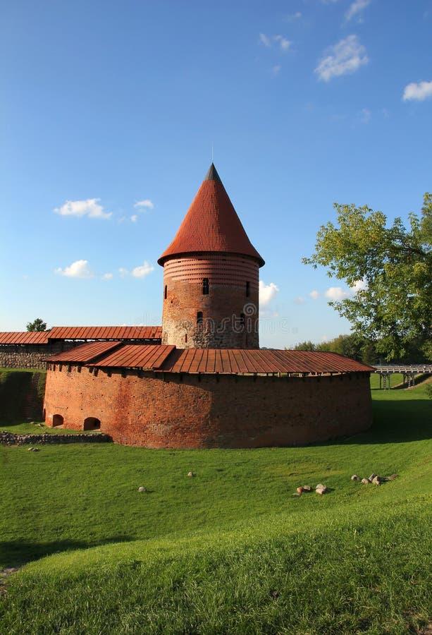 Castelo velho em Kaunas, Lithuania. fotografia de stock