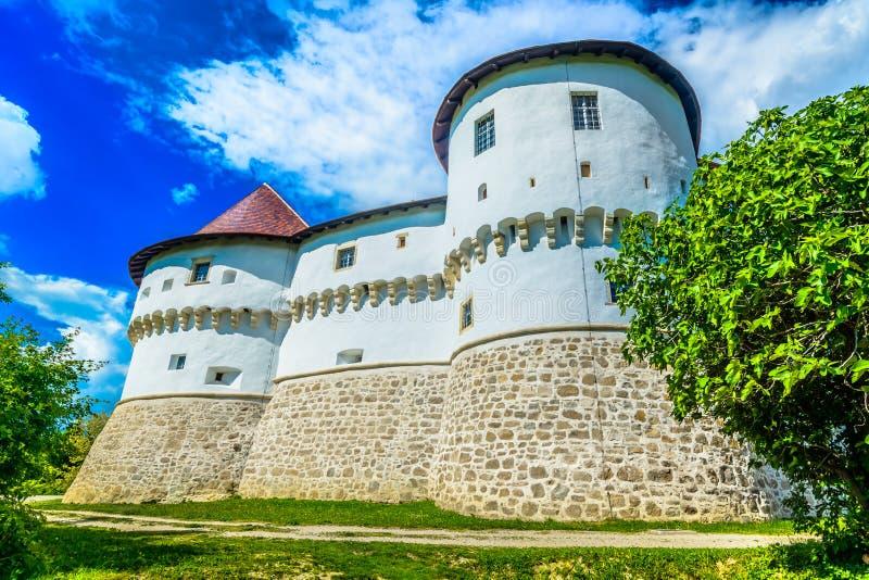 Castelo velho em Zagorje, Croácia imagem de stock