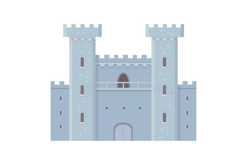 Castelo velho, ilustrações do vetor do palácio de Europa Construção histórica medieval ilustração do vetor