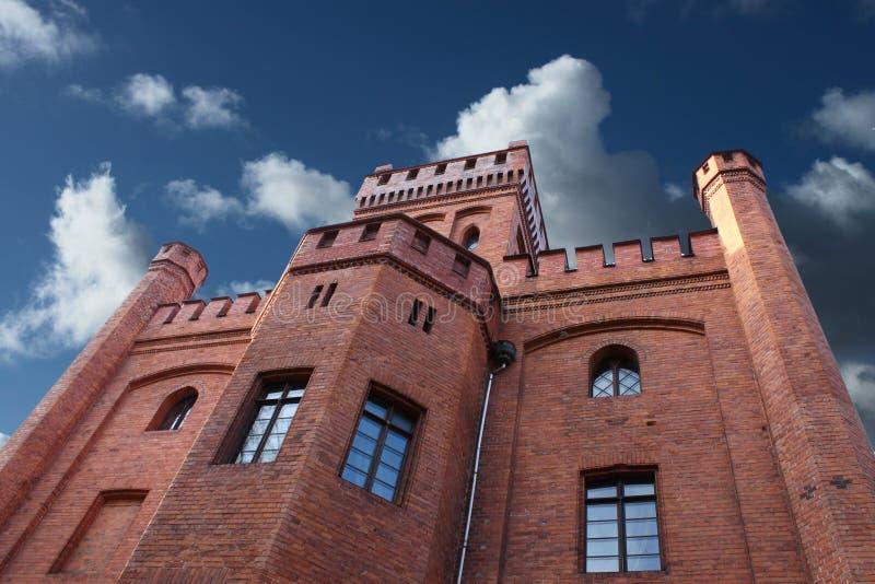 Castelo velho, Rzucewo, Poland. imagem de stock