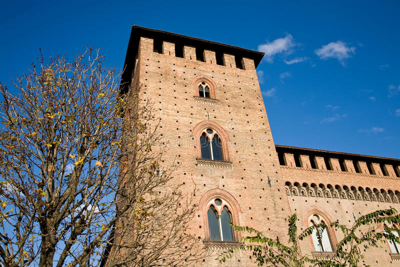 Castelo Visconti, Pavia, Itália imagem de stock royalty free