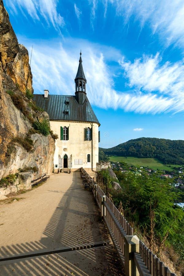 Castelo Vranov da rocha - panteão imagem de stock