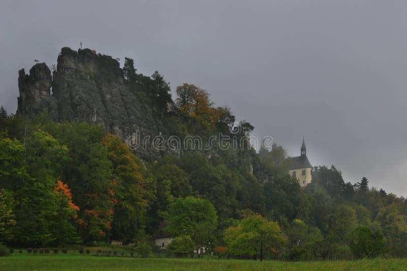 Castelo Vranov, República Checa - panteão foto de stock