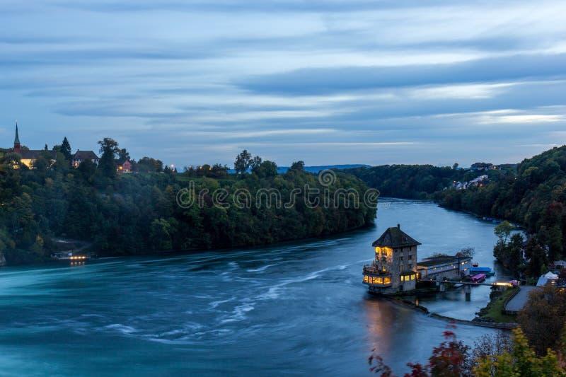 Castelo Woerth, Rhine Falls, Suíça fotografia de stock