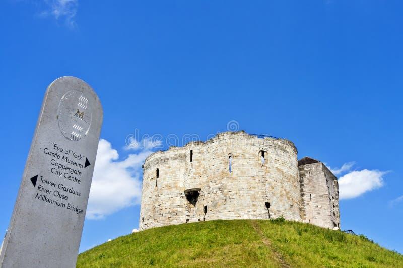 Castelo York, torre de Clifford fotos de stock