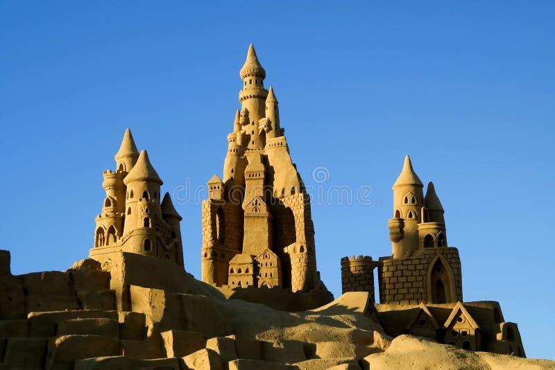 Castelos da areia foto de stock