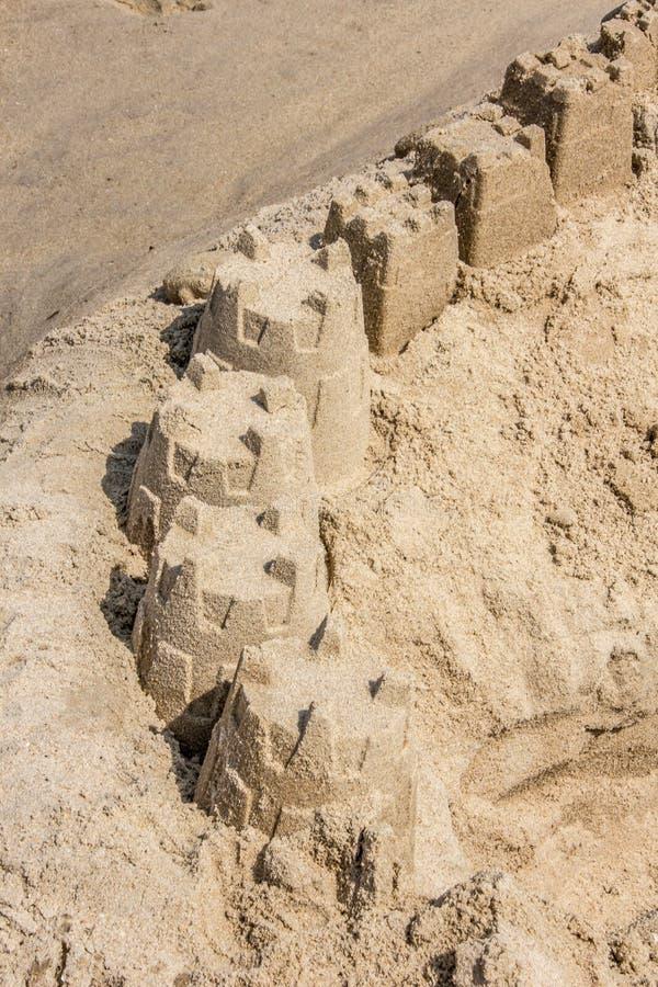 Castelos da areia da praia de Rehoboth fotografia de stock royalty free