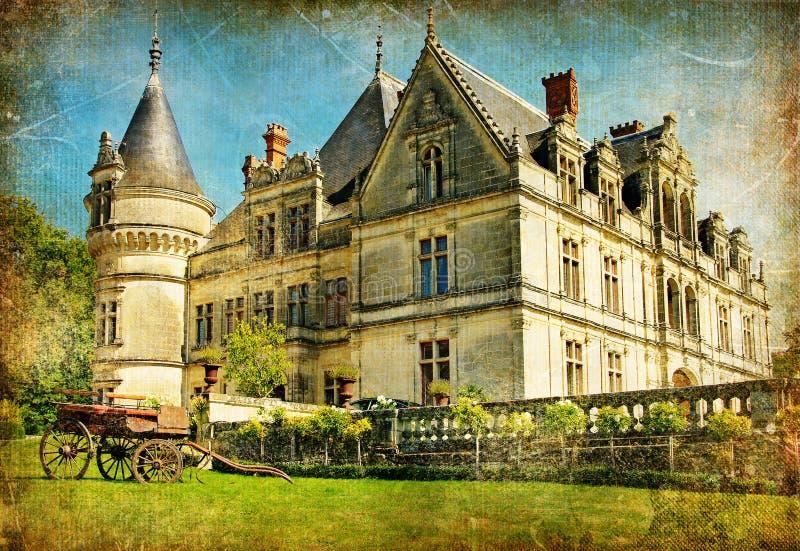 Castelos de France imagens de stock royalty free