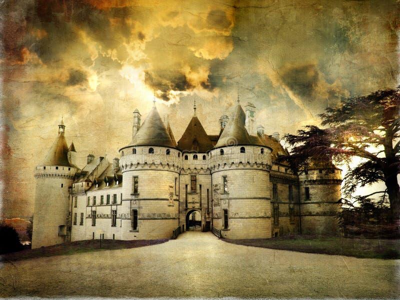Castelos de France ilustração royalty free
