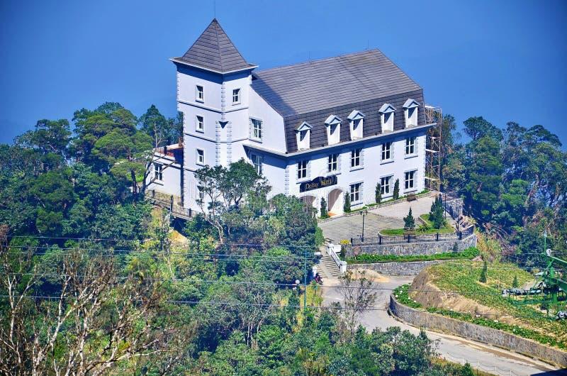 Castelos no monte Montes do Na dos vagabundos, Danang Vietname fotos de stock royalty free