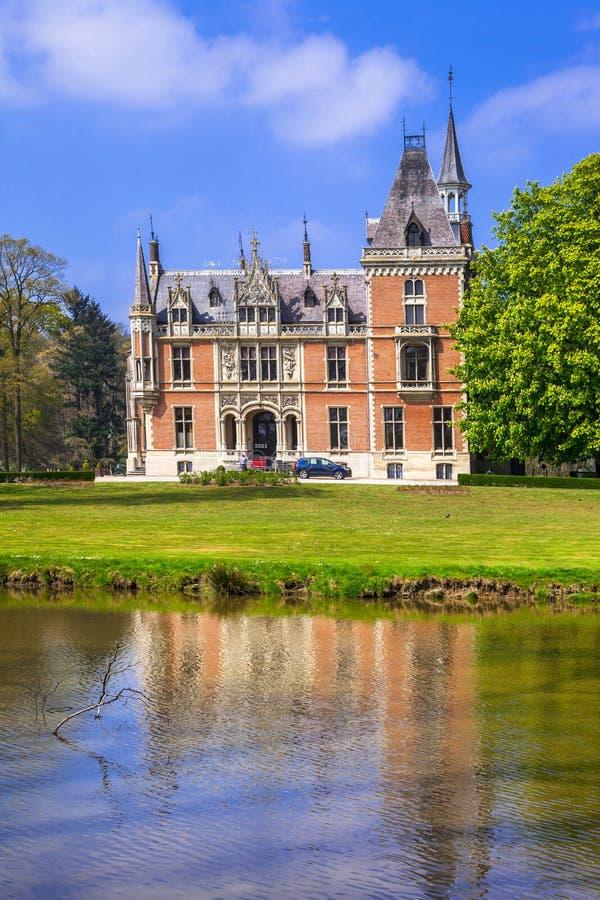 castelos românticos de Bélgica foto de stock