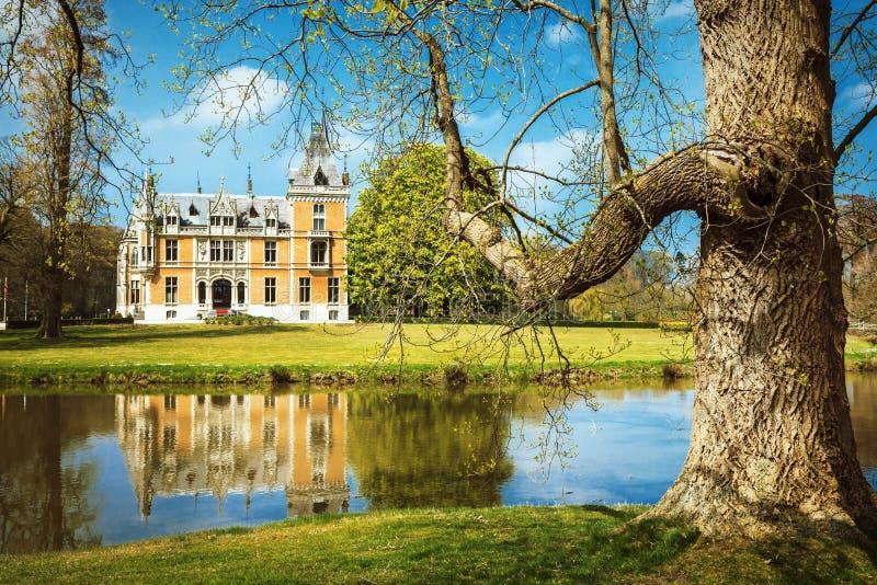 castelos românticos de Bélgica foto de stock royalty free