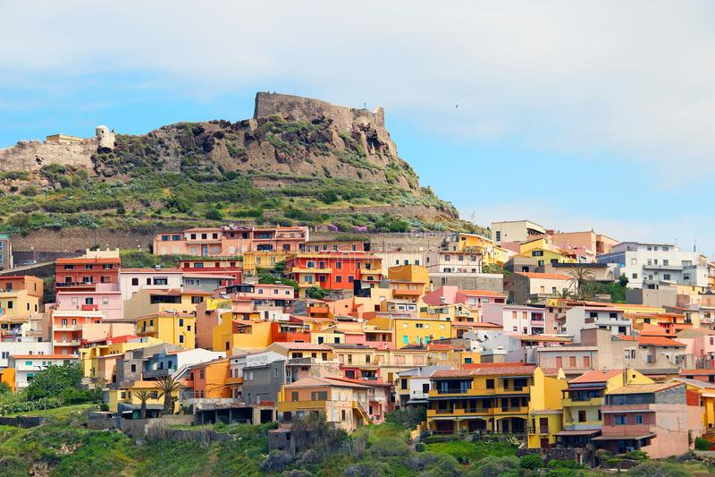 castelsardo Ιταλία Σαρδηνία στοκ εικόνα