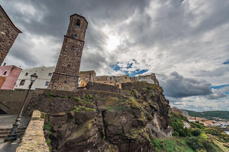 Castelsardo, in het noordwesten van het eiland Sardinië, Italië royalty-vrije stock afbeeldingen