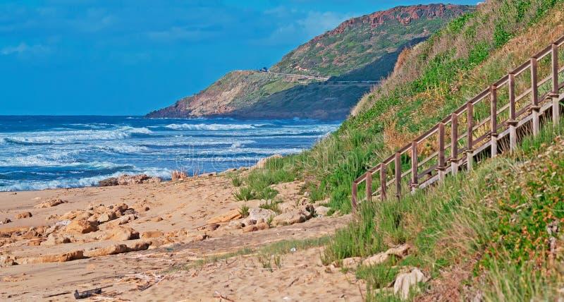 Castelsardo Shoreline Royalty Free Stock Images