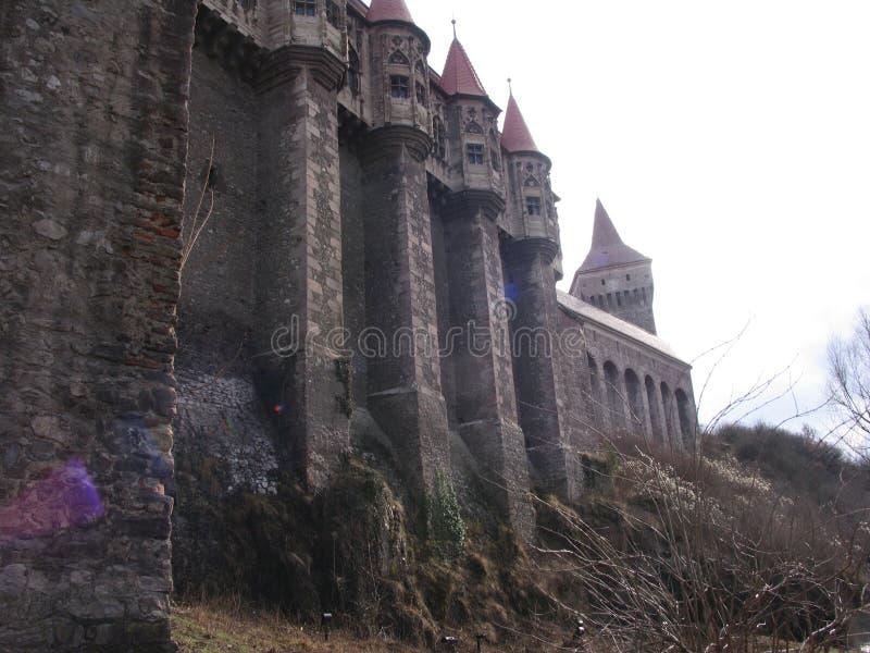 Castelul Corvinilor Hunedoara fotos de stock