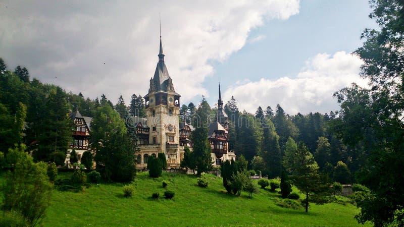 Castelul Peles Romania immagini stock libere da diritti