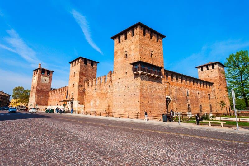 Castelvecchio城堡在维罗纳,意大利 库存照片
