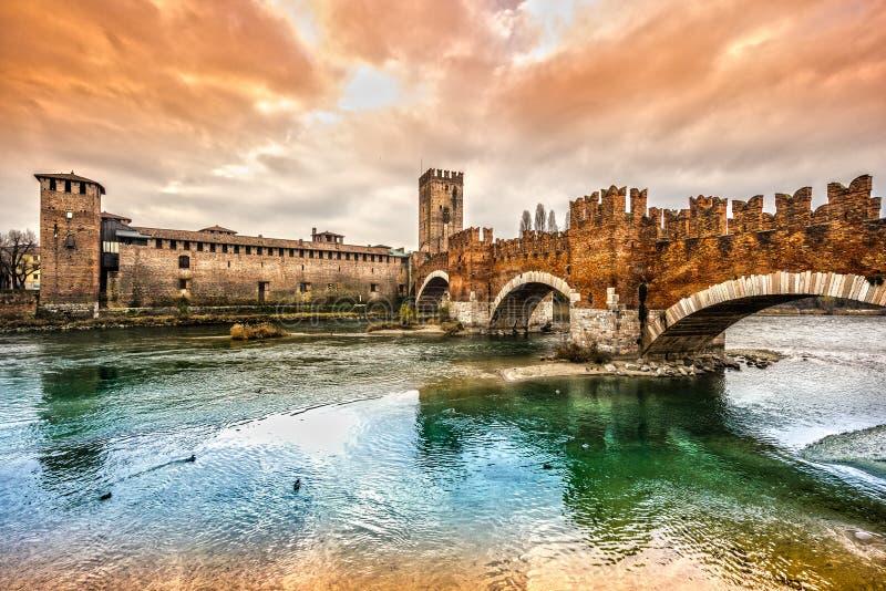 castelvecchio意大利维罗纳 免版税图库摄影