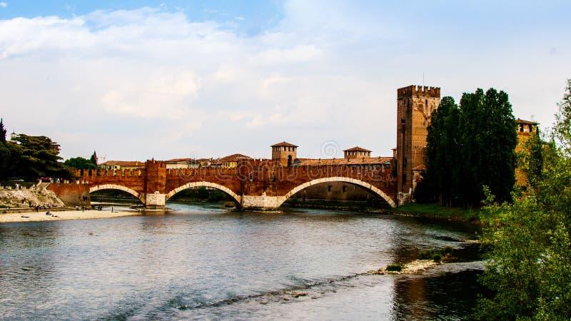Castelvecchio桥梁在维罗纳 免版税库存照片