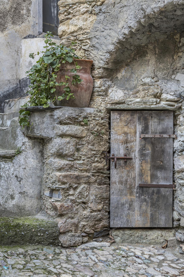 In Castelvecchio di Rocca Barbena royalty free stock photography