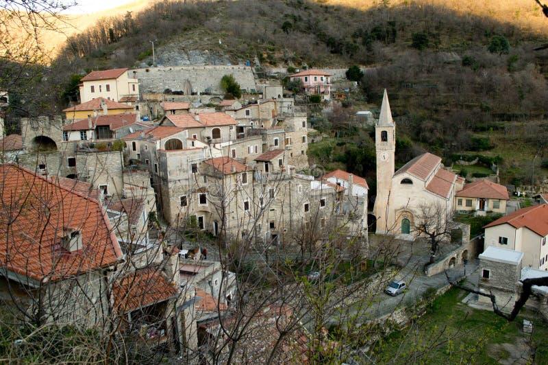 Castelvecchio di Rocca Barbena royalty free stock image