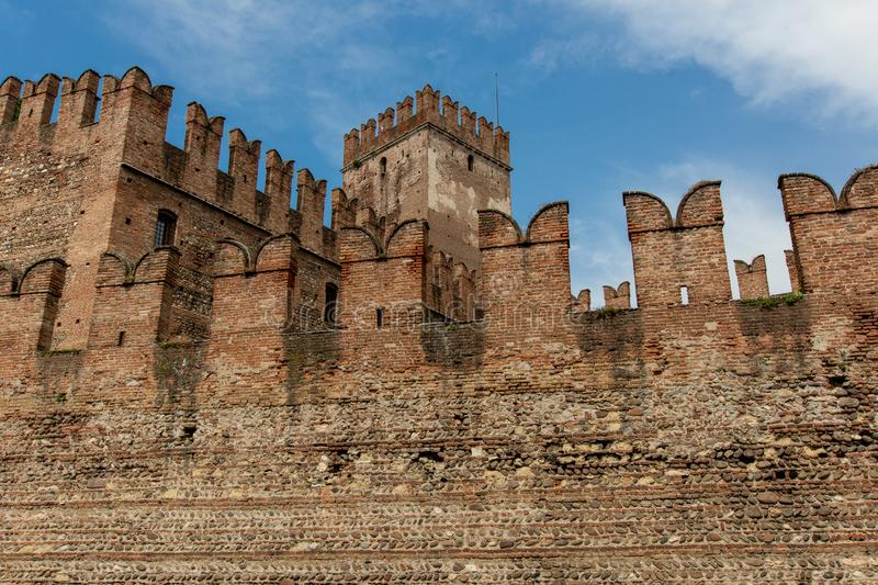 Castelvecchio royaltyfri bild