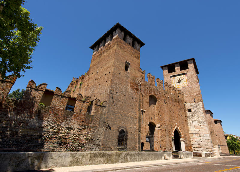 Castelvecchio Verona - Itália (1357) fotografia de stock royalty free