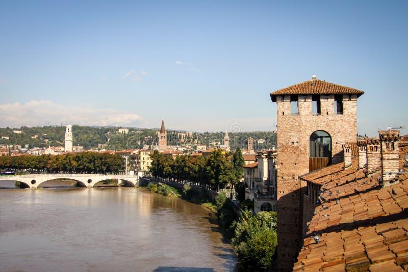 Castelvecchio in Verona, Italië royalty-vrije stock fotografie