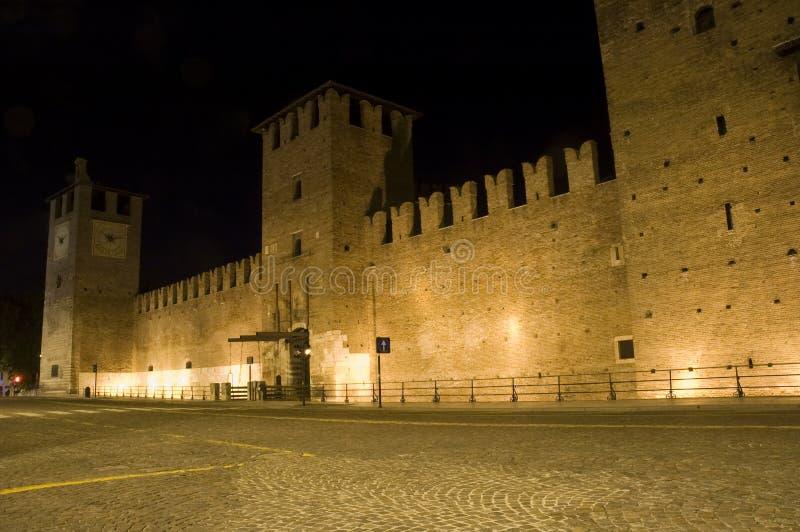 Castelvecchio in Verona at night royalty free stock photo