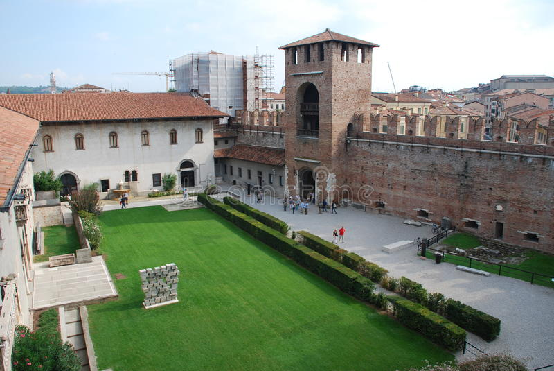 Castelvecchio w Verona obraz stock