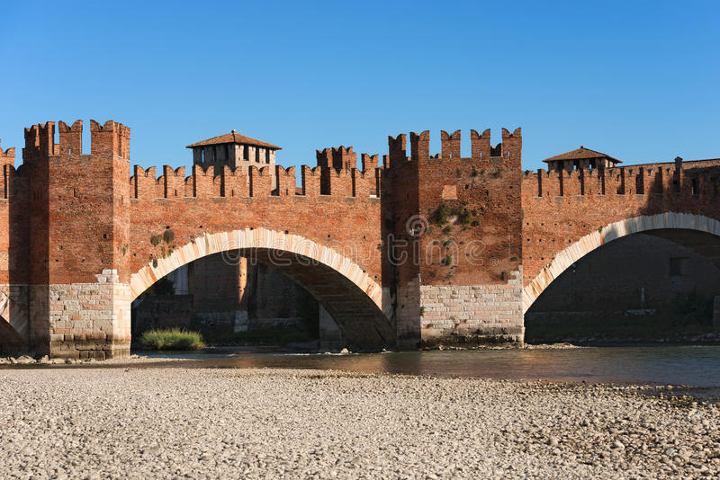 Castelvecchiobrug - Verona Italy royalty-vrije stock afbeelding
