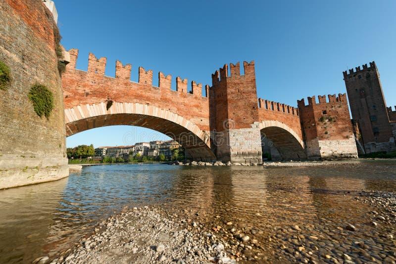 Castelvecchiobrug - Verona Italy royalty-vrije stock foto's