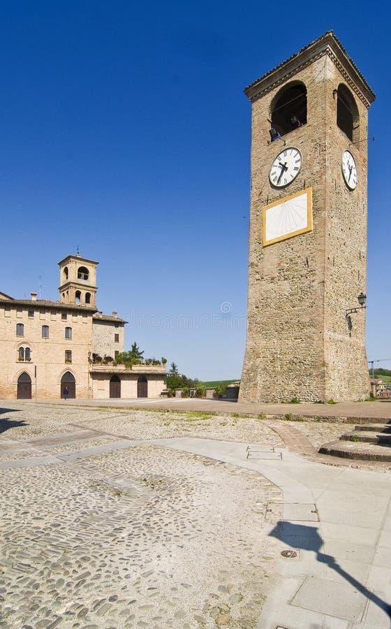 Castelvetro royalty-vrije stock afbeelding