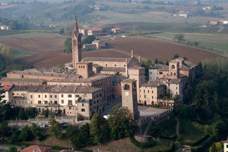 Castelvetro av Modena royaltyfri fotografi