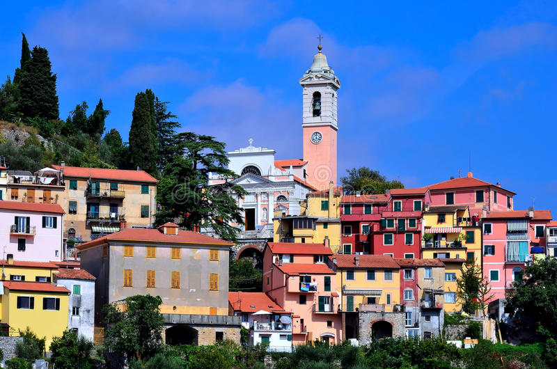 Castiglione chiavarese. (or castiggion in the ligurian) is an italian town of 1,658 inhabitants in the province of genoa in liguria stock photo